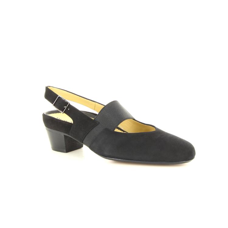 Peron damesschoenen sandaal zwart 14256