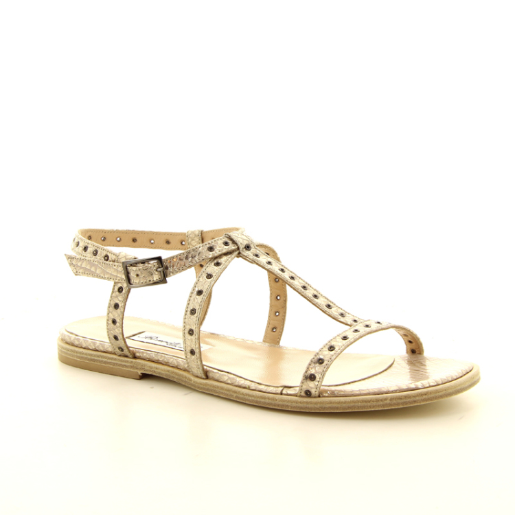 Benoite c damesschoenen sandaal brons 13822