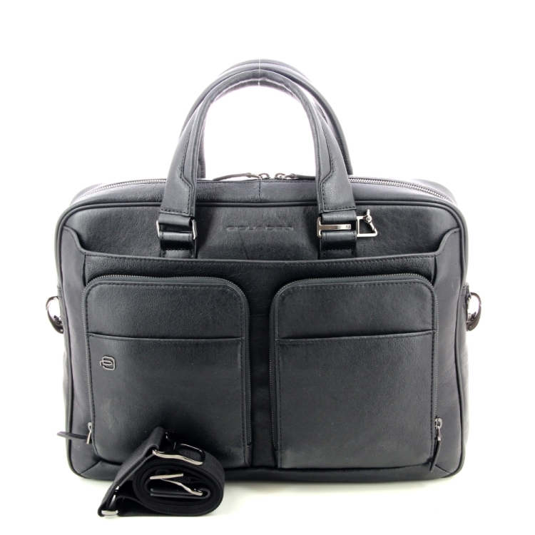 Piquadro tassen aktetas zwart 195658
