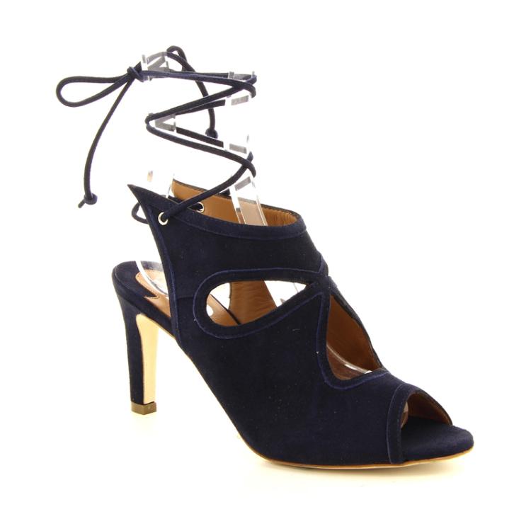 Julie dee damesschoenen sandaal donkerblauw 13194