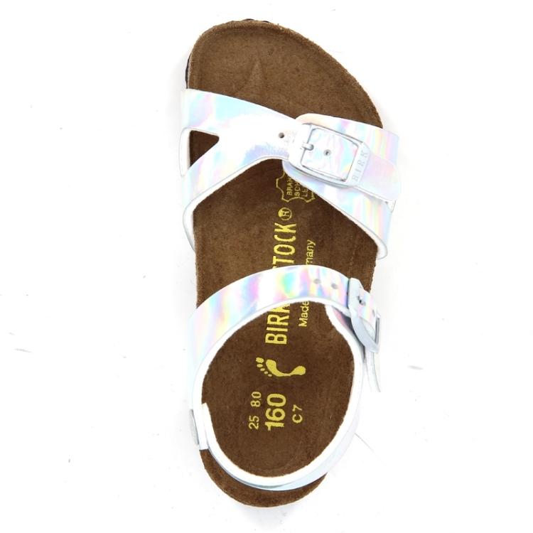 Birkenstock kinderschoenen sandaal zilver 87498