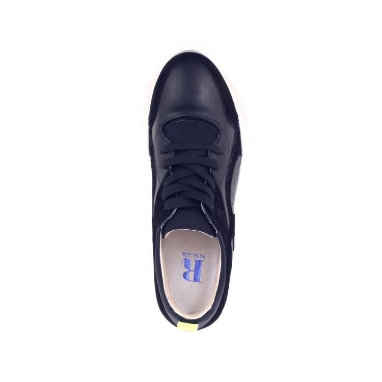 Singer damesschoenen sneaker zwart 193678