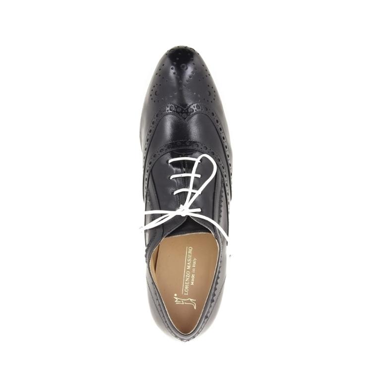Lorenzo masiero damesschoenen veterschoen zwart 173481