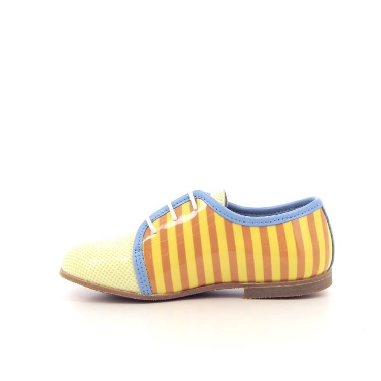 Gallucci kinderschoenen veterschoen geel 183460