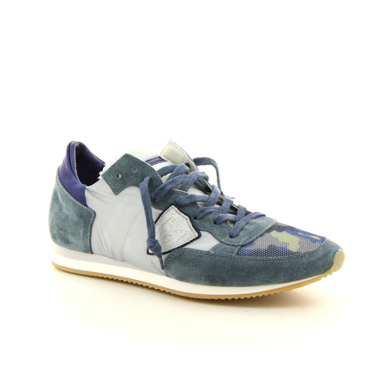 Philippe model herenschoenen sneaker jeansblauw 98027