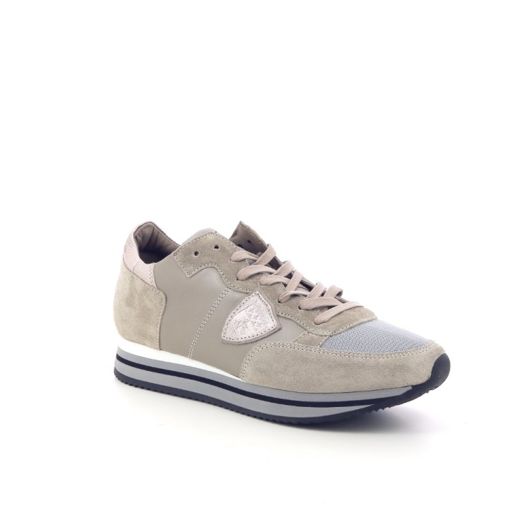 Philippe model damesschoenen sneaker taupe 187616