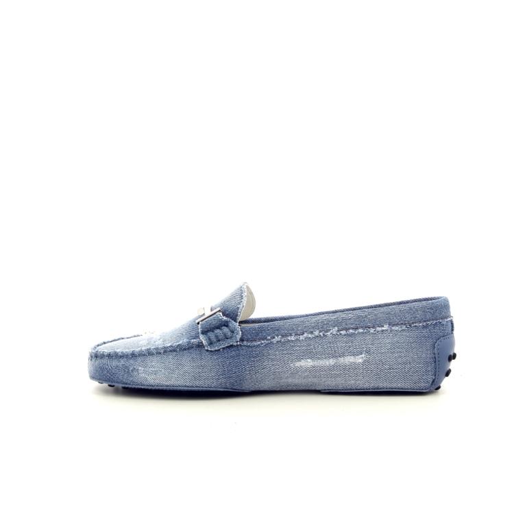 Tod's damesschoenen mocassin lichtblauw 191677