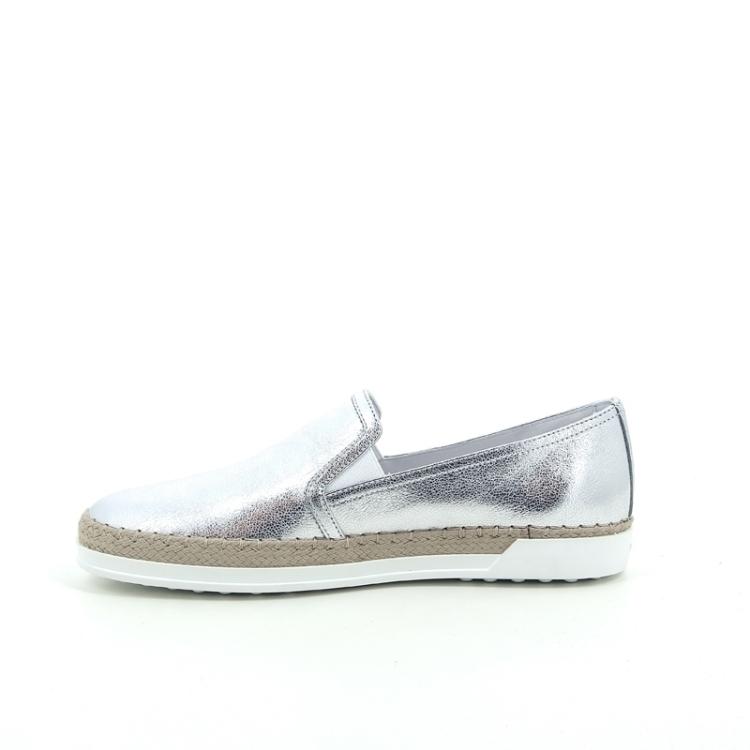 Tod's damesschoenen sneaker zilver 168165