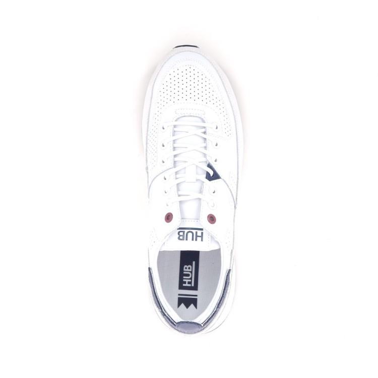 Hub herenschoenen sneaker wit 192948