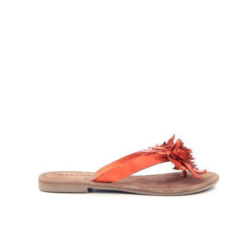 Lazamani damesschoenen sleffer oranje 214763