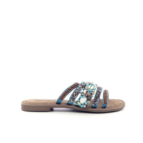 Lazamani damesschoenen sleffer turquoise 214768