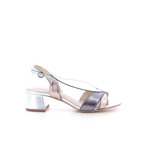 Lola cruz damesschoenen sandaal zilver 205114