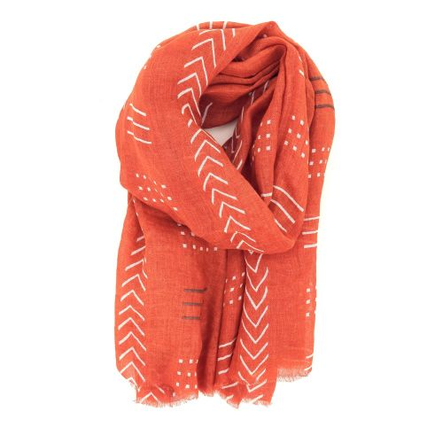 Lovat & green accessoires sjaals d.oranje 214156