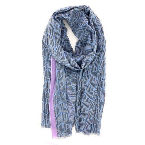 Lovat & green accessoires sjaals lichtblauw 214145