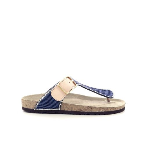 Maliparmi damesschoenen sleffer jeansblauw 213202
