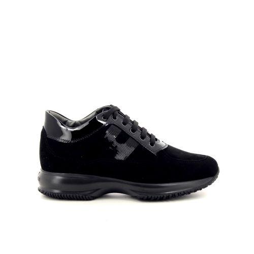 Hogan damesschoenen veterschoen zwart 187055