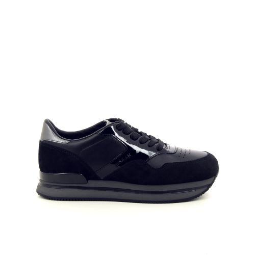 Hogan damesschoenen veterschoen zwart 187044
