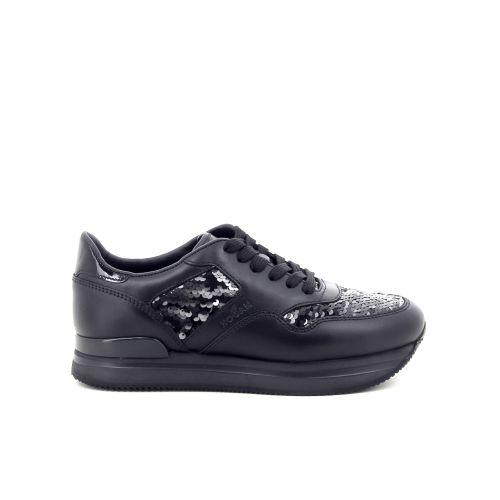 Hogan damesschoenen veterschoen zwart 187051