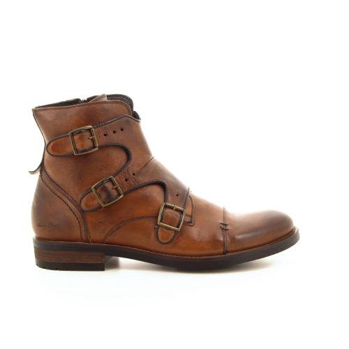 Olivier strelli herenschoenen boots cognac 19151