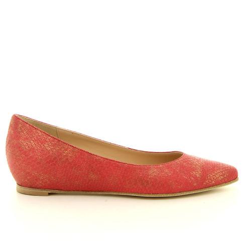 Benoite c damesschoenen ballerina rood 13825