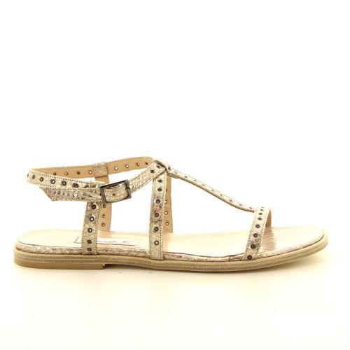 Benoite c damesschoenen sandaal goud 13822