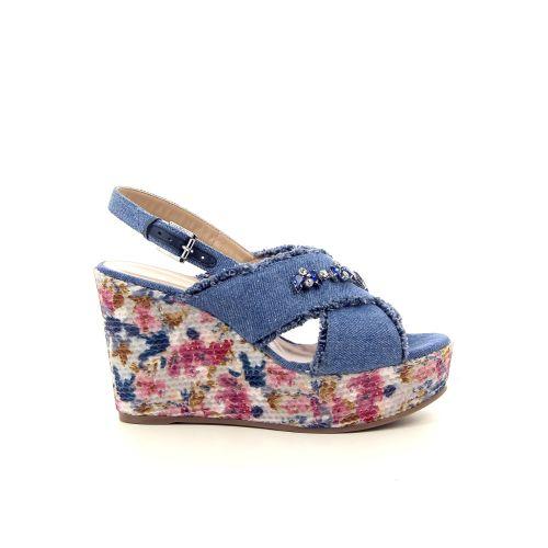 Caroline biss damesschoenen sandaal jeansblauw 182102