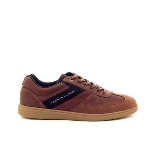 Tommy hilfiger herenschoenen sneaker cognac 176451