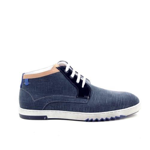 Floris van bommel herenschoenen boots blauw 169761