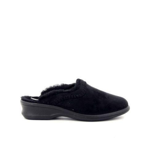 Rohde damesschoenen pantoffel zwart 189824