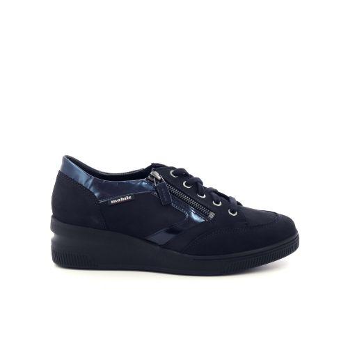 Mephisto damesschoenen veterschoen donkerblauw 200281
