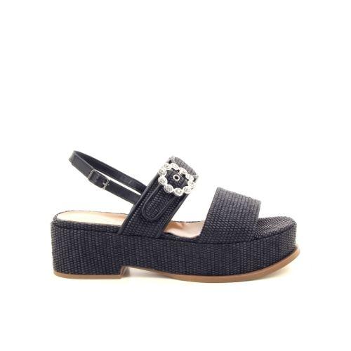 Jeannot damesschoenen sandaal zwart 172475