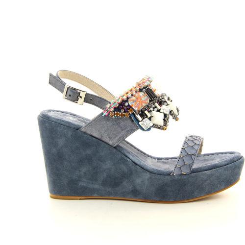 Alma en pena damesschoenen sandaal jeansblauw 12327