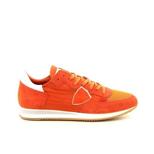 Philippe model herenschoenen sneaker oranje 191778