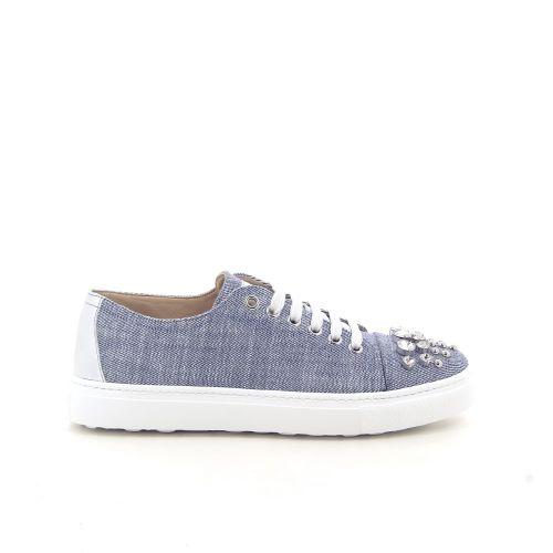 Maimai damesschoenen veterschoen jeansblauw 184487