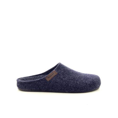 Bioline damesschoenen pantoffel blauw 190311