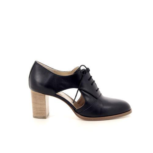 Atelier content damesschoenen veterschoen zwart 183005
