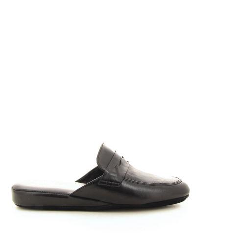 Crb herenschoenen pantoffel zwart 21581
