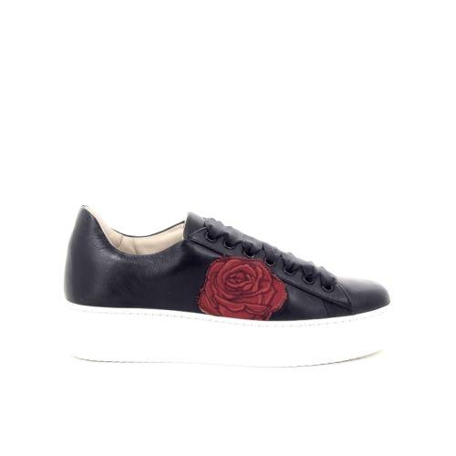 Poesie veneziane damesschoenen veterschoen zwart 172934