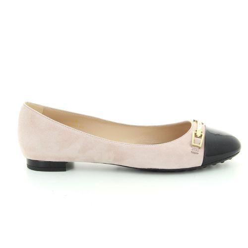 Tod's damesschoenen ballerina poederrose 91128