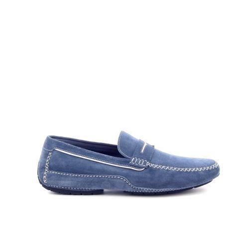 Moreschi herenschoenen mocassin jeansblauw 172946