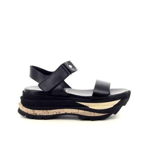 Agl damesschoenen sandaal zwart 192377