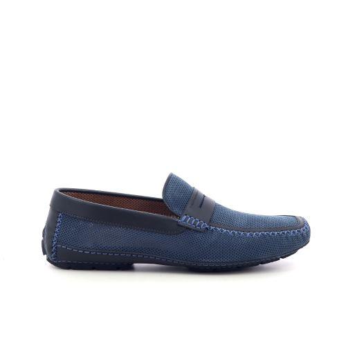 Moreschi  mocassin blauw 215096