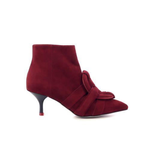 Morobe damesschoenen boots d.rood 208973