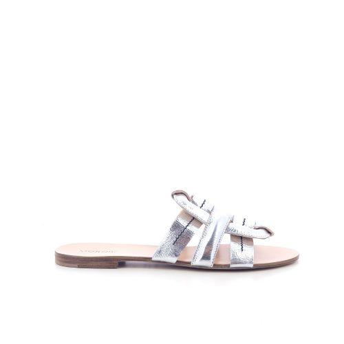 Morobe damesschoenen sleffer zilver 202618