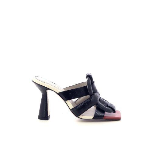 Morobe damesschoenen sleffer zwart 218155