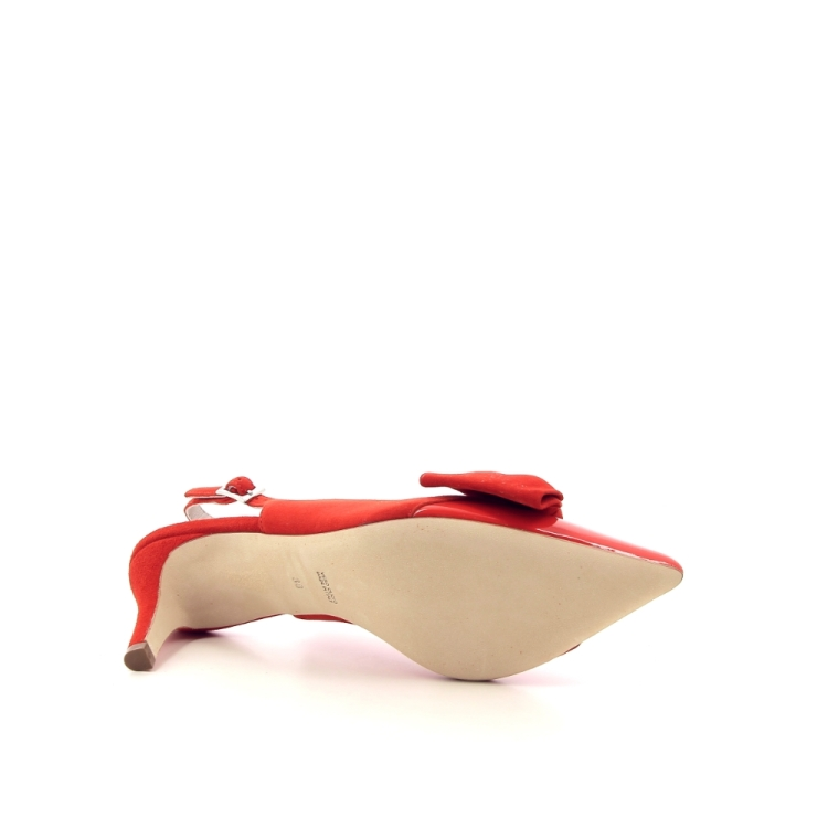 Natan damesschoenen sandaal koraalrood 195814