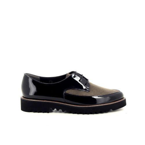 Paul green damesschoenen veterschoen zwart 200430
