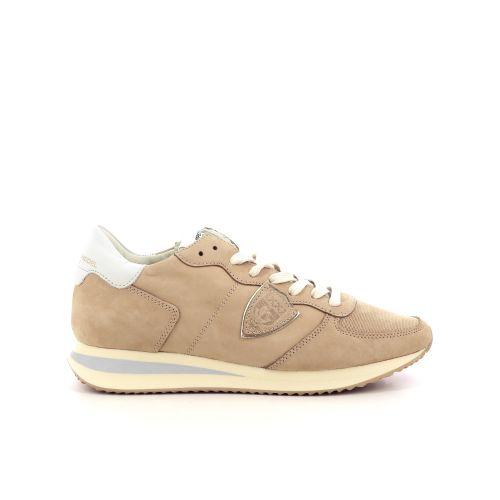 Philippe model damesschoenen veterschoen beige 208375