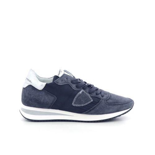 Philippe model damesschoenen veterschoen donkerblauw 208376