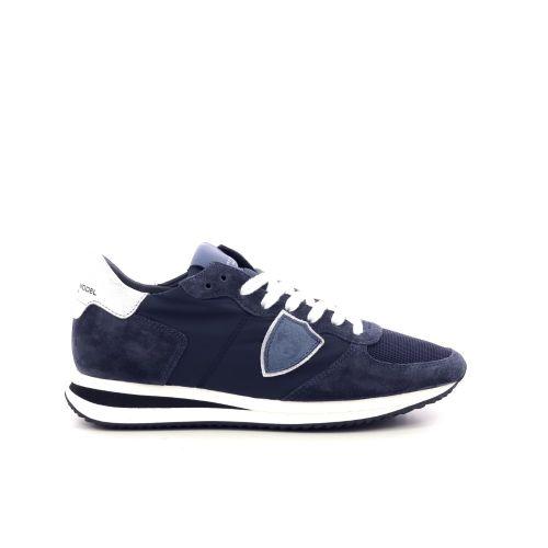 Philippe model damesschoenen veterschoen donkerblauw 212124